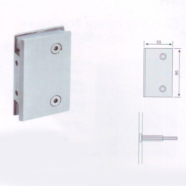 Конектор стена-стекло материал нержавеющая сталь
