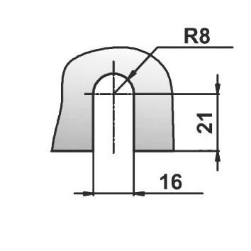 Коннектор матовый хром