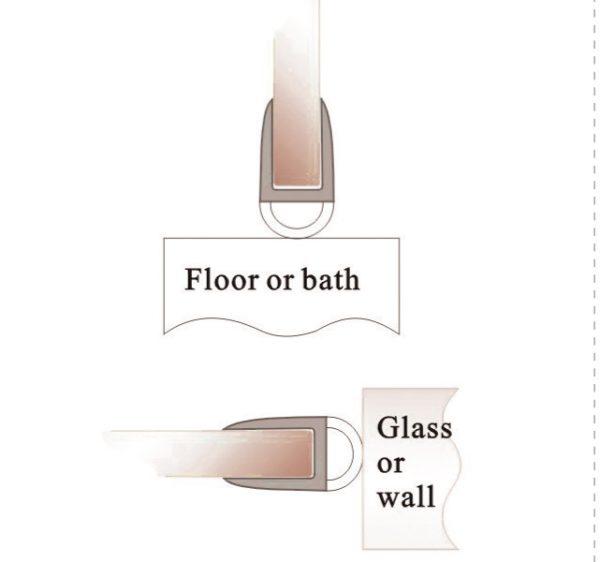 Профиль уплотнительный стекло 8 мм 2.5 метра