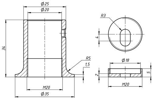 Соединитель для душевой штанги стена-труба 19мм к стене матовый хром