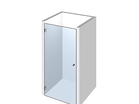 Дверь в нишу из стекла. Размер 1900*600мм