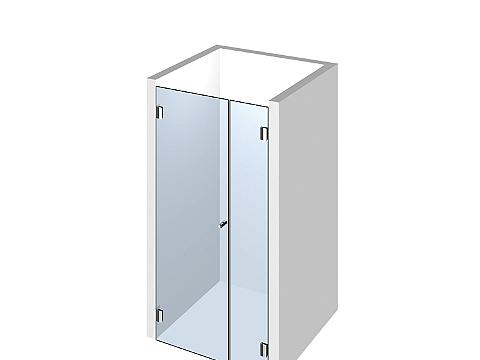 Душевая перегородка из стекла: дверь+добор. Ширина проема 850мм.