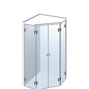 Душевая кабинка из стекла пятиугольная Б1