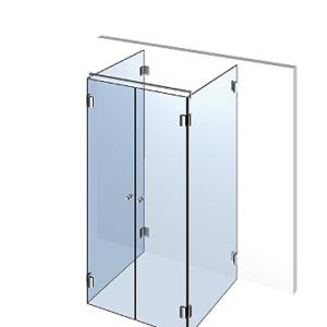 Душевая кабинка из стекла пристенная П2