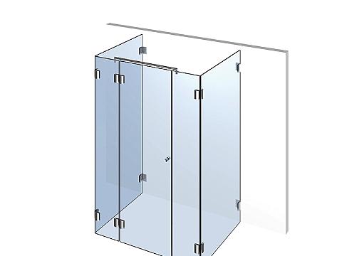 Душевая кабинка из стекла пристенная П3