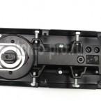 Доводчик напольный скрытый 75 кг . Угол открывания и фиксации под 90° и 116°