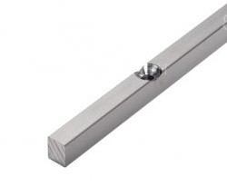 2371 Профиль для крепления магнита к стене алюминивый 8-10 мм, длина 2 200 мм