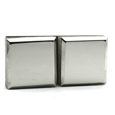 Коннектор 180 гр AISI 304 стекло-стекло матовая нерж.
