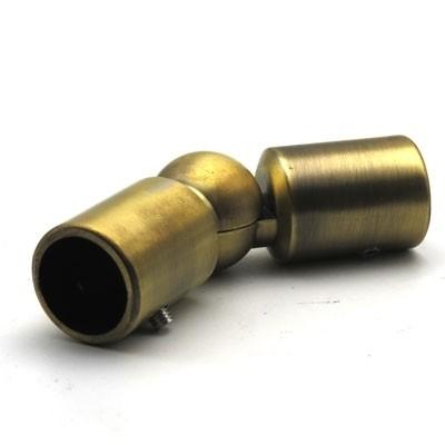 Соединитель труба-труба произвольный угол, Ø19мм хром