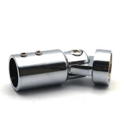 Коннектор стена-труба регулируемый матовый хром